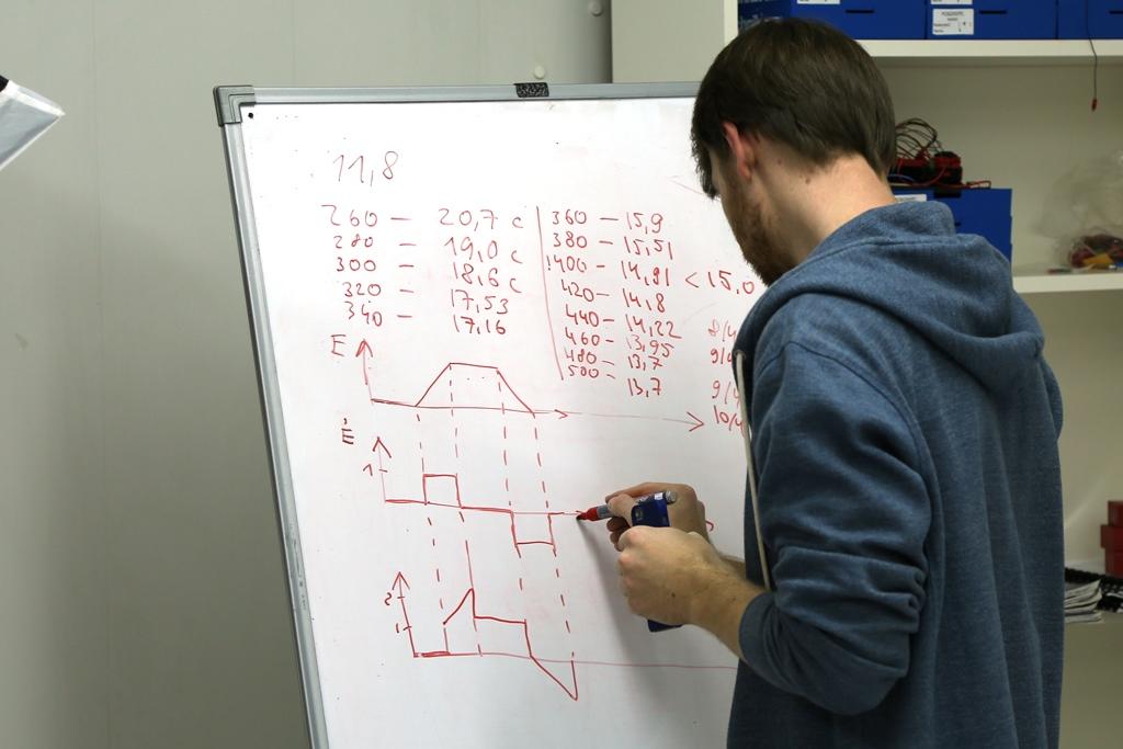 Таблица результатов с разными настройками и эпюры сигналов